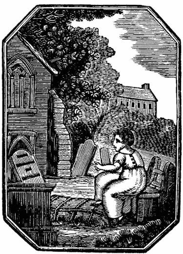 In the graveyard - from R.M. Young's Town Book of Belfast