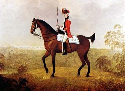 Officer in the 17th Light Dragoons