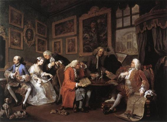 William Hogarth - The Marriage Settlement, 1743