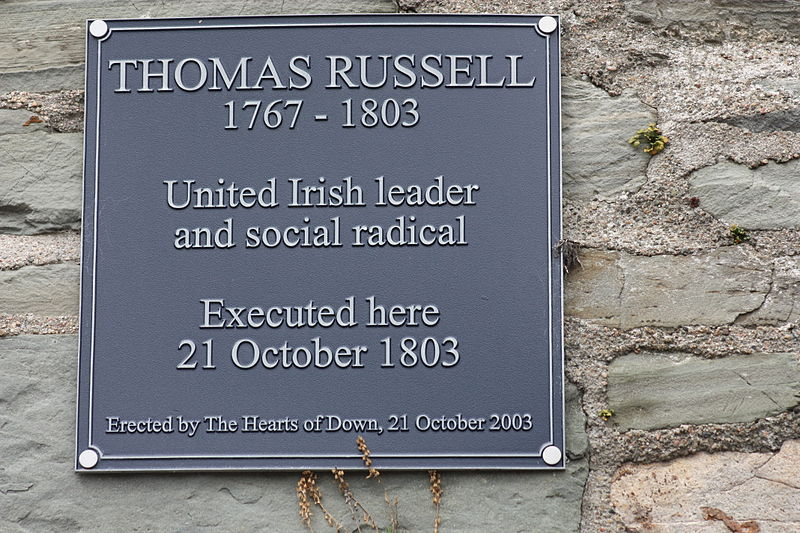 Thomas Russell plaque, Downptrick, Co.Down.