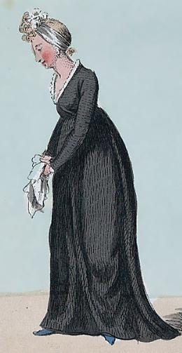 Widow - caricature by Isaac Cruikshank, 1799